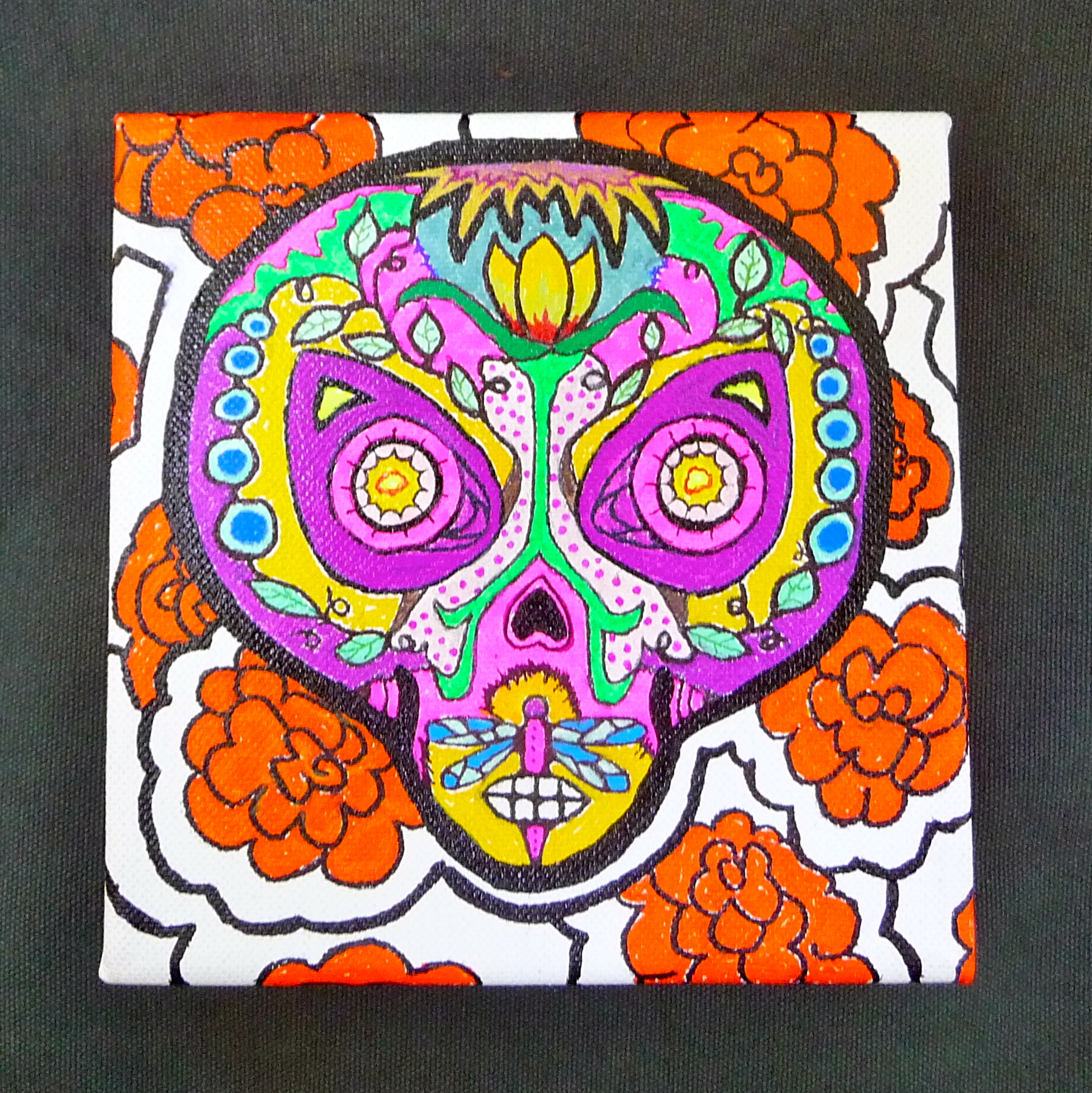 Day of the dead inspired alien craft organic for Day of the dead arts and crafts