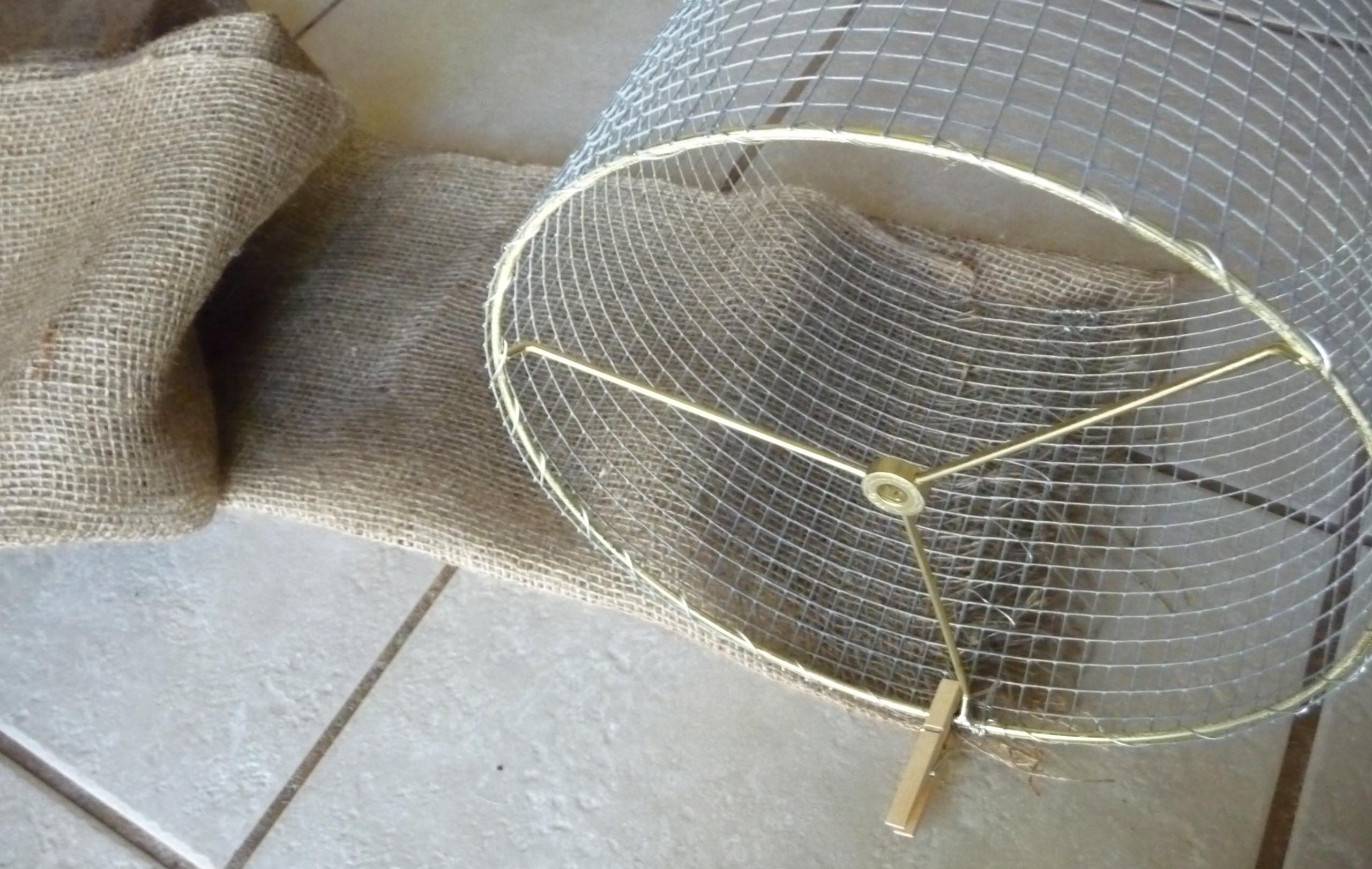 Diy garden burlap lamp shade craft organic we greentooth Images