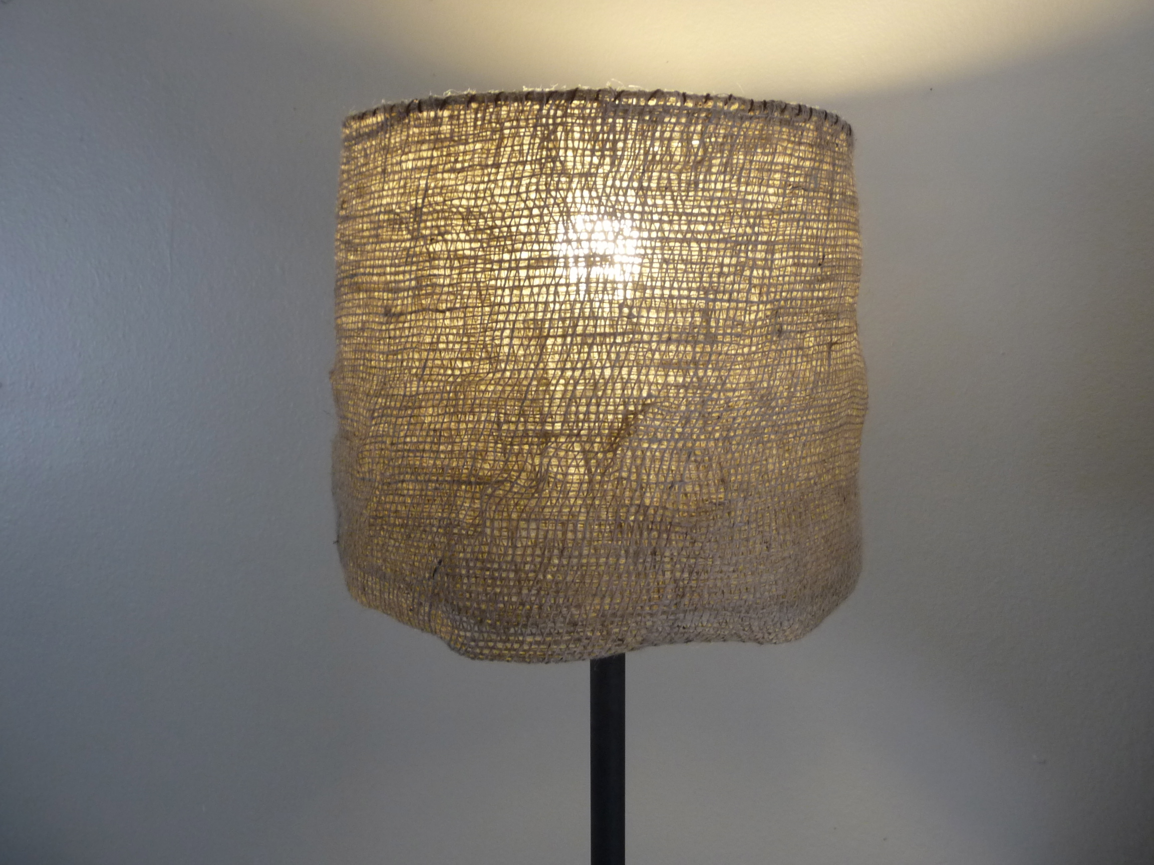 Diy garden burlap lamp shade craft organic - Diy lamp shade ...
