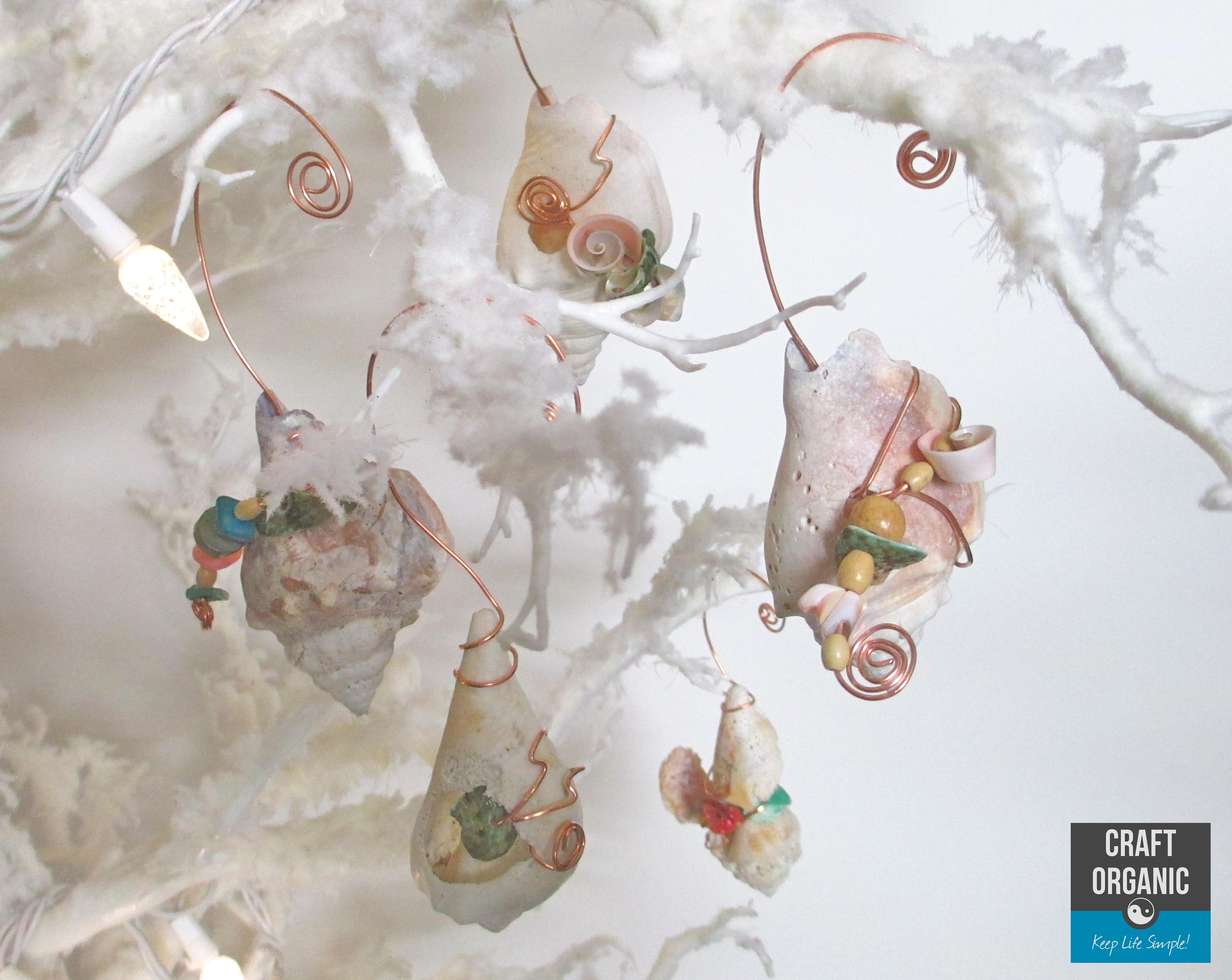 Seashell christmas ornaments crafts car interior design for Seashell ornaments craft